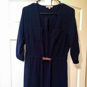 NWOT Skies Are Blue Navy Belted Dress